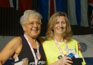 A droite:  Françoise LANGLAUDE - Médaille d'Or